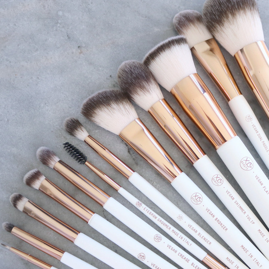 12pc Vegan Rose Gold Brush Set | LIMITED EDITION