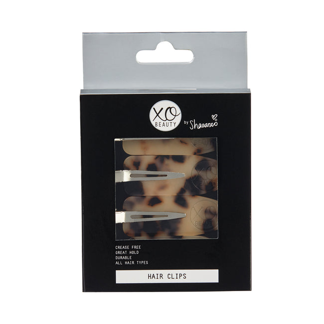 Hair Clips (4 Pack) | Leopard Print