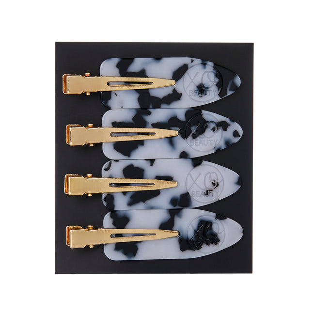 Hair Clips (4 Pack) | Snow Leopard