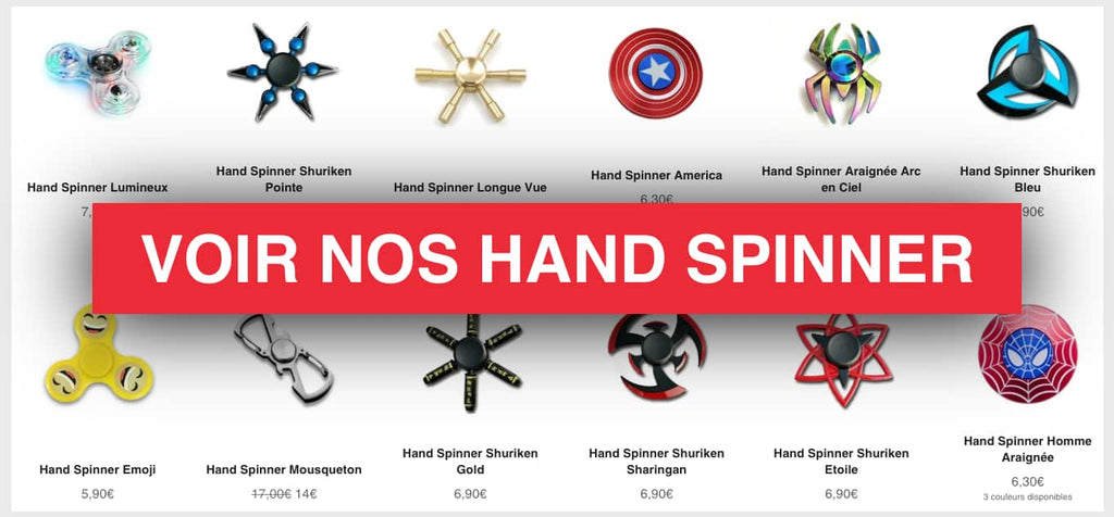 collection de hand spinner