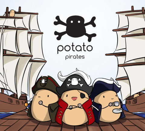 The happy potato crew - potato pirates coding card game
