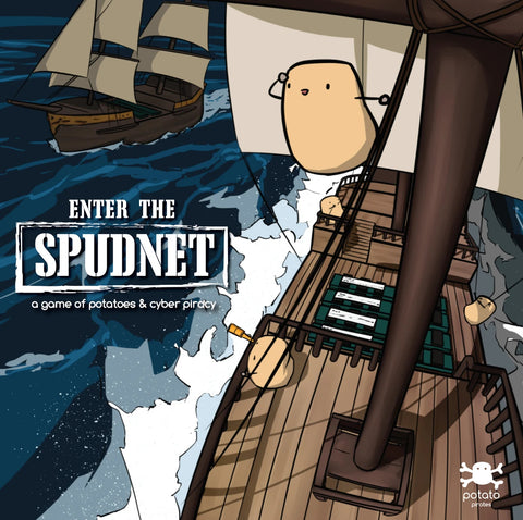Enter the Spudnet - all new board game  - potato pirates educational board game for programming and computer science potato cartoon