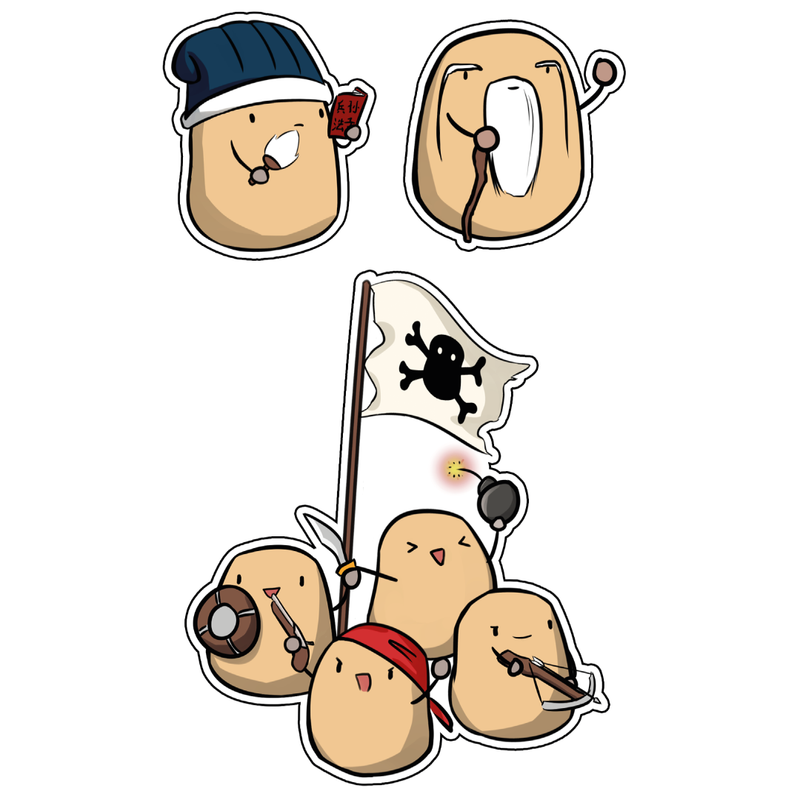 Potato Pirates Sticker Pack