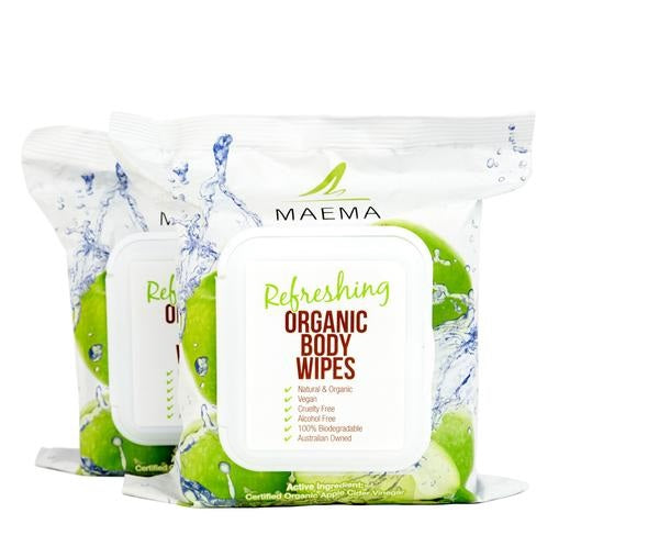 Double Pack Organic Body Wipes
