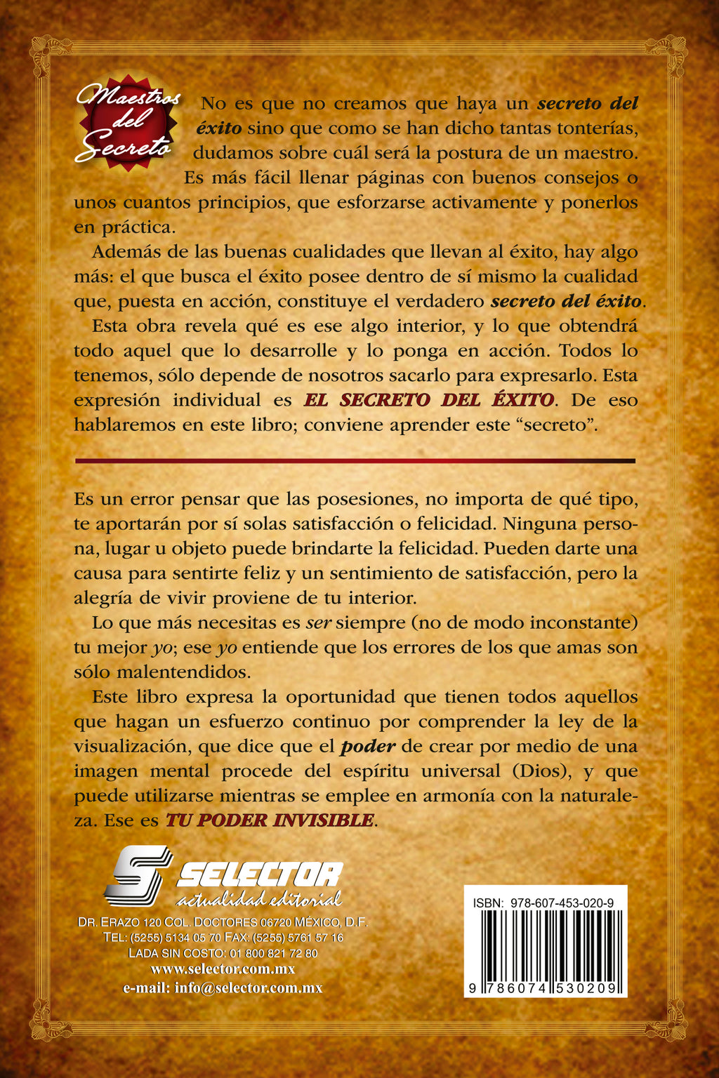 El secreto del éxito y Tu poder invisible - Editorial Selector