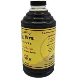 Desert Sun Cold Brew Coffee Concentrate in 32 Oz bottles.