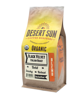 Black Velvet Italian Roast Organic Coffee from Desert Sun Roasters