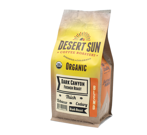 Purchase Organic Dark Canyon French Roast Coffee | Dark Roast Coffee