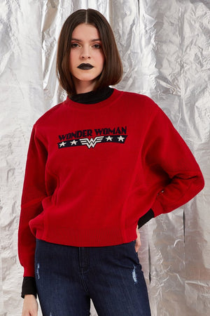 Madame Red Sweater For Women
