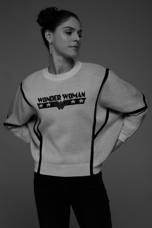 Madame White Sweater For Women