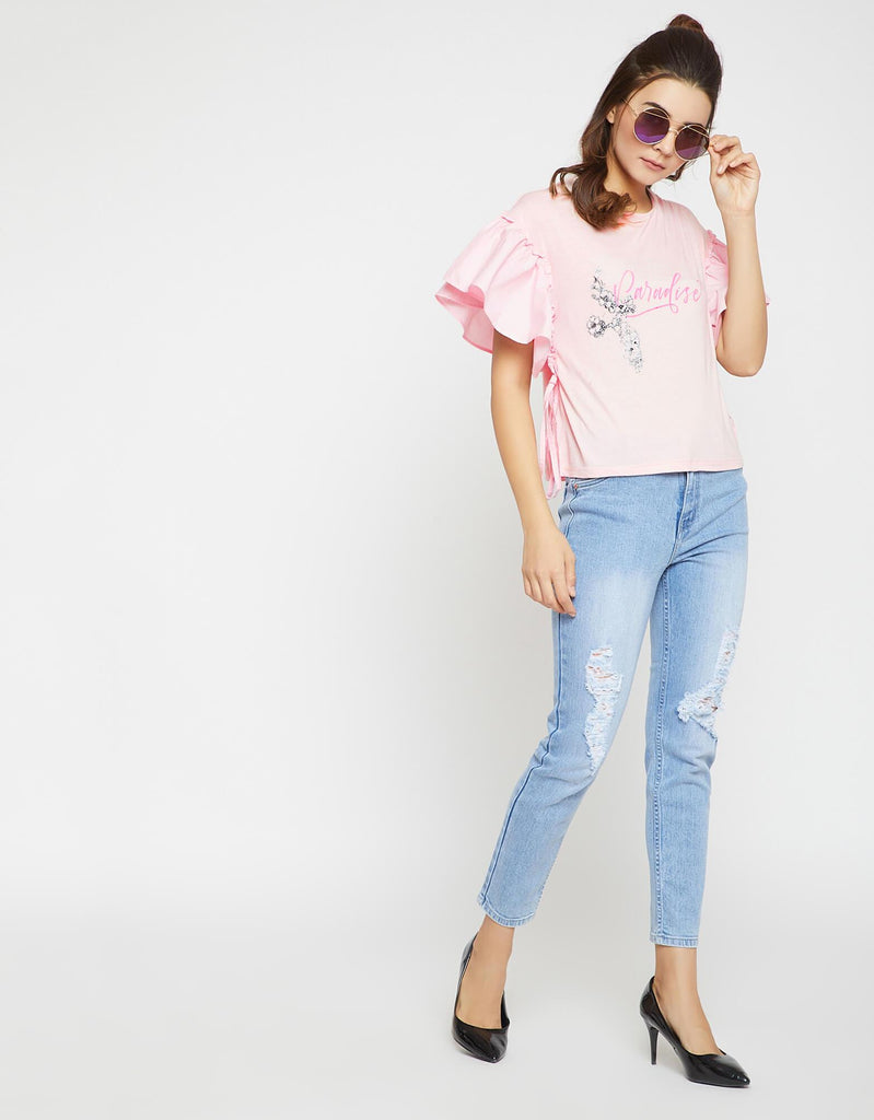Opt Peach Color Top For Women