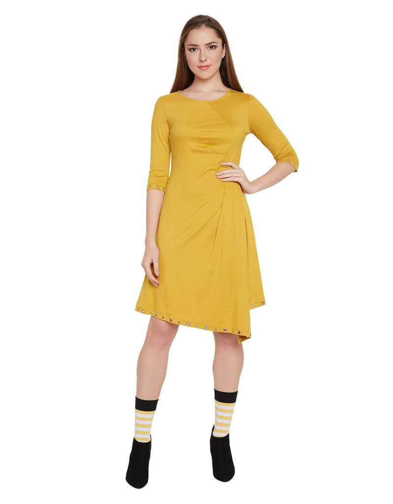 Madame Mustard Color Dress