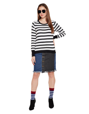 Womens Striped Casual Sweater
