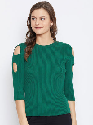 Camla Women Green Sweater