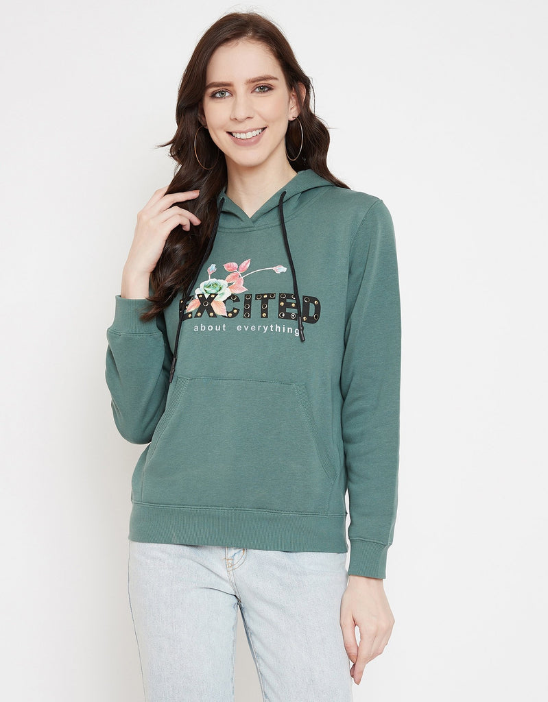 Madame Green Sweat-Shirt For Women
