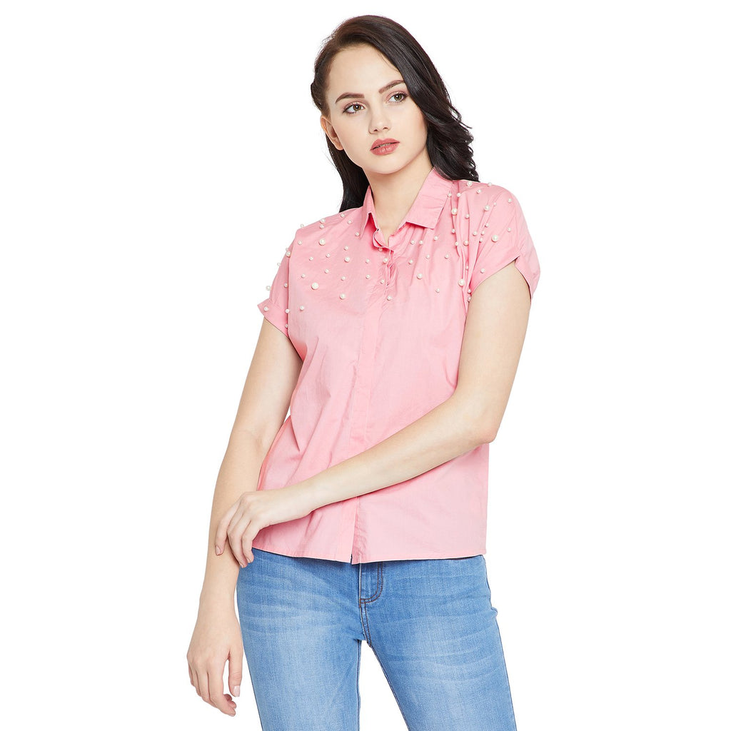 Pink Solid Shirt