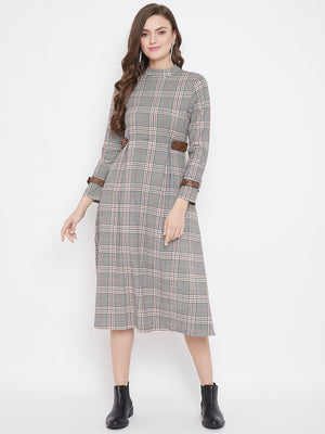 Madame Brown Color Dress For Women