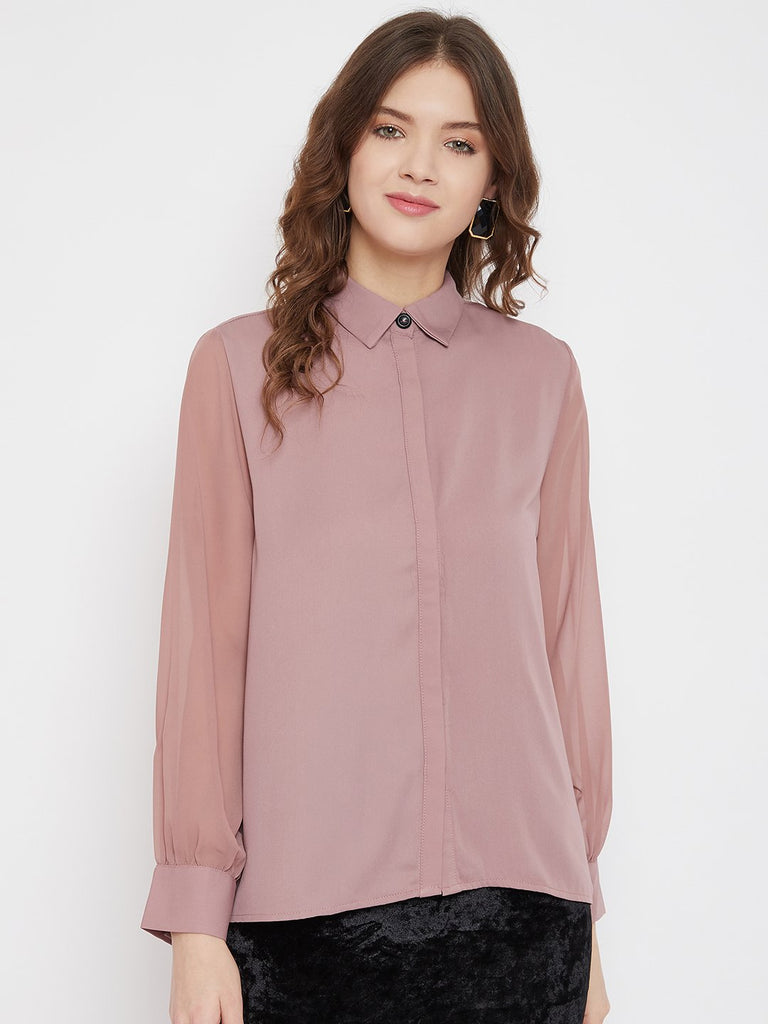Madame Blush Color Shirt For Women