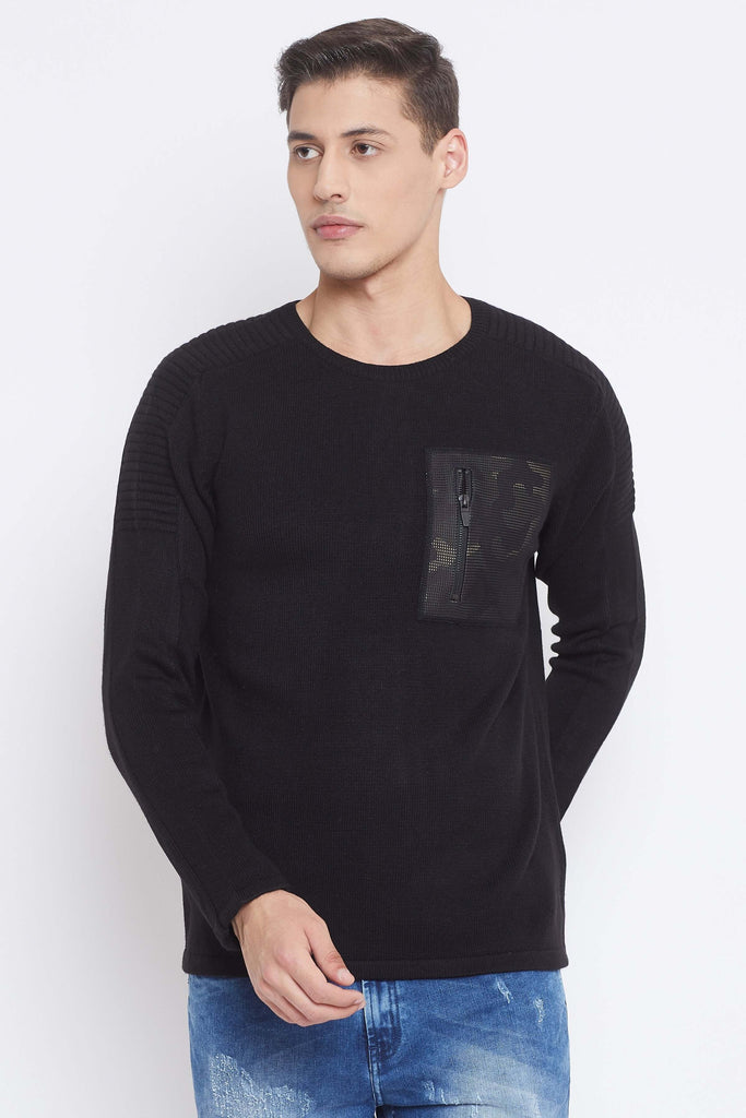 Camla Black Color Sweater For Mens
