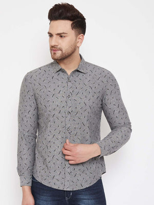 Camla Grey Color Shirts For Men