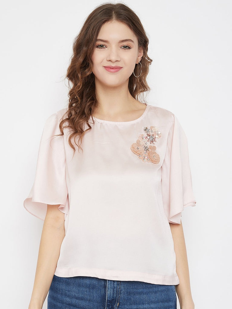 Madame Peach Color Top For Women