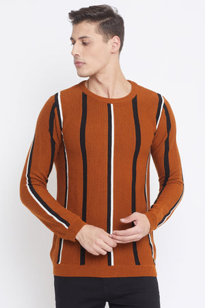 Camla Tan Color Sweater For Mens