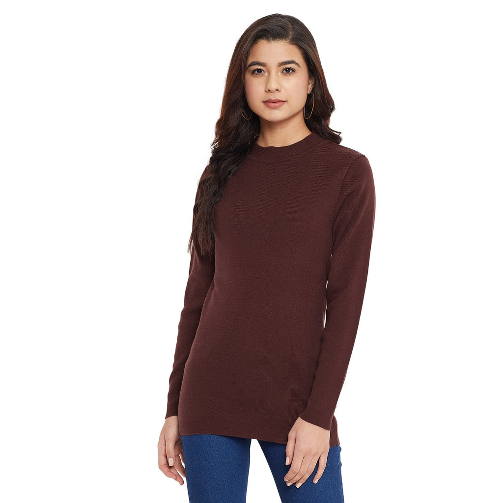 Madame Coffee Color Sweater For Women