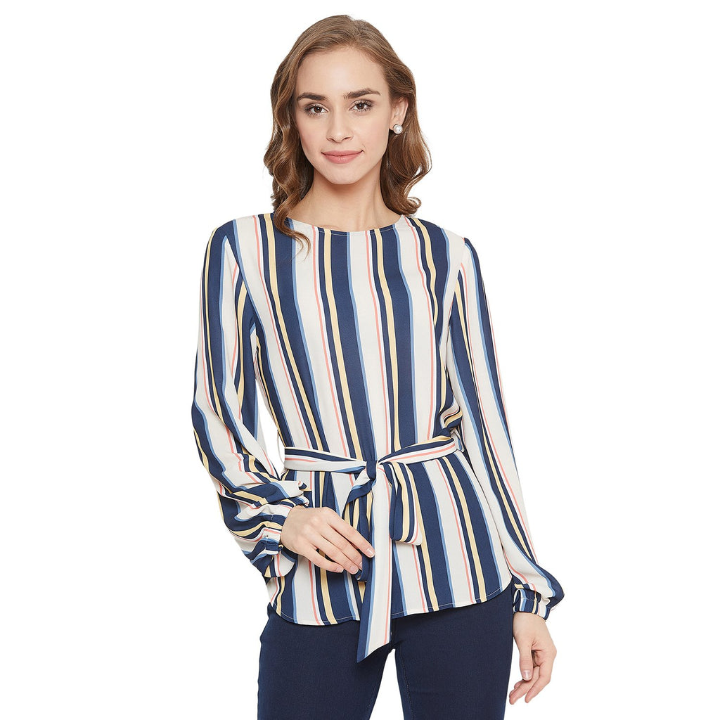 Madame Navy Color Top  For Women