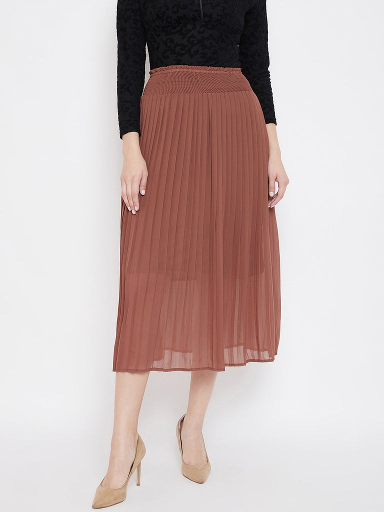 Madame Brown Color Skirt For Women