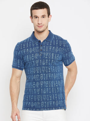 Camla Navy Color T-Shirt For Men