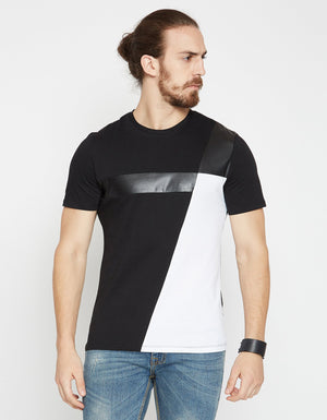 Black Solid Regular Fit Round Neck T-Shirt