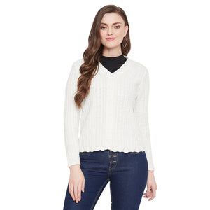 Madame Off White Color Cardigans For Women