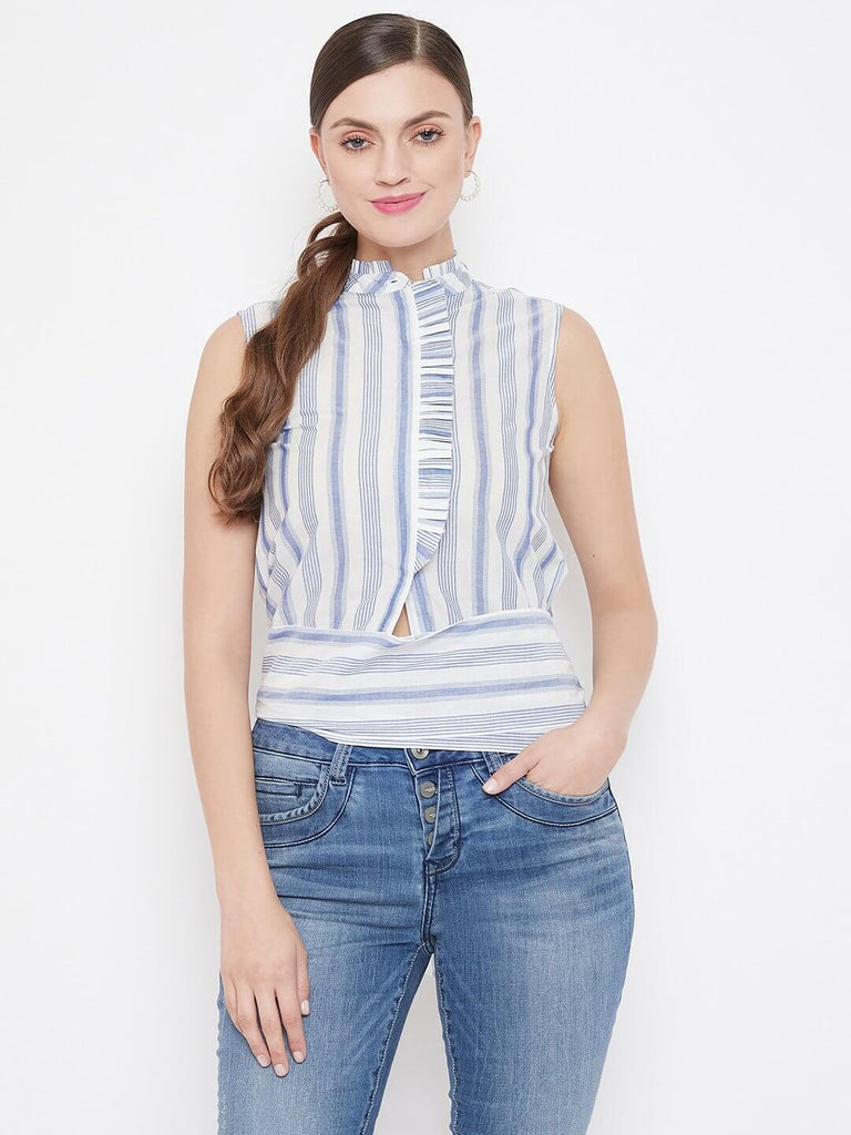 Camla Blue Color Top For Women