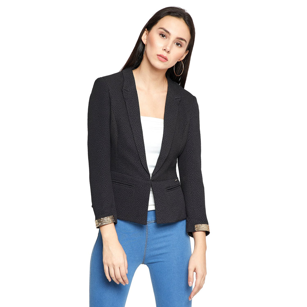 Navy Blue Fitted Blazer