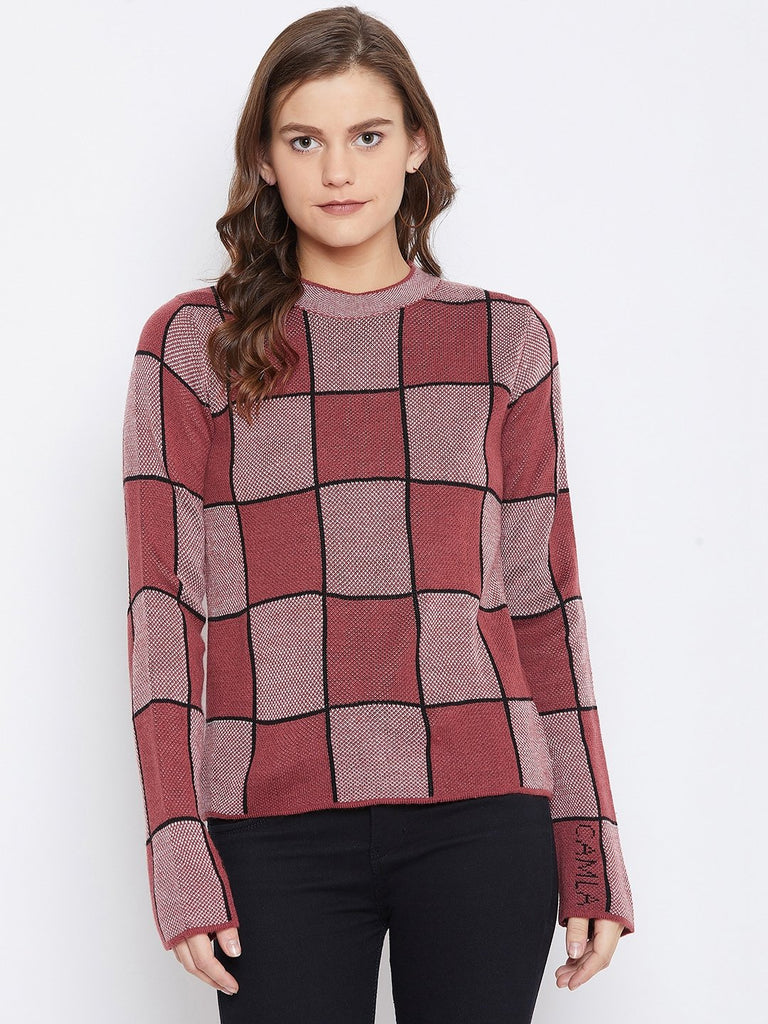 Camla Women Rust Sweater