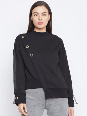 Camla Black Color Sweatshirt For Women