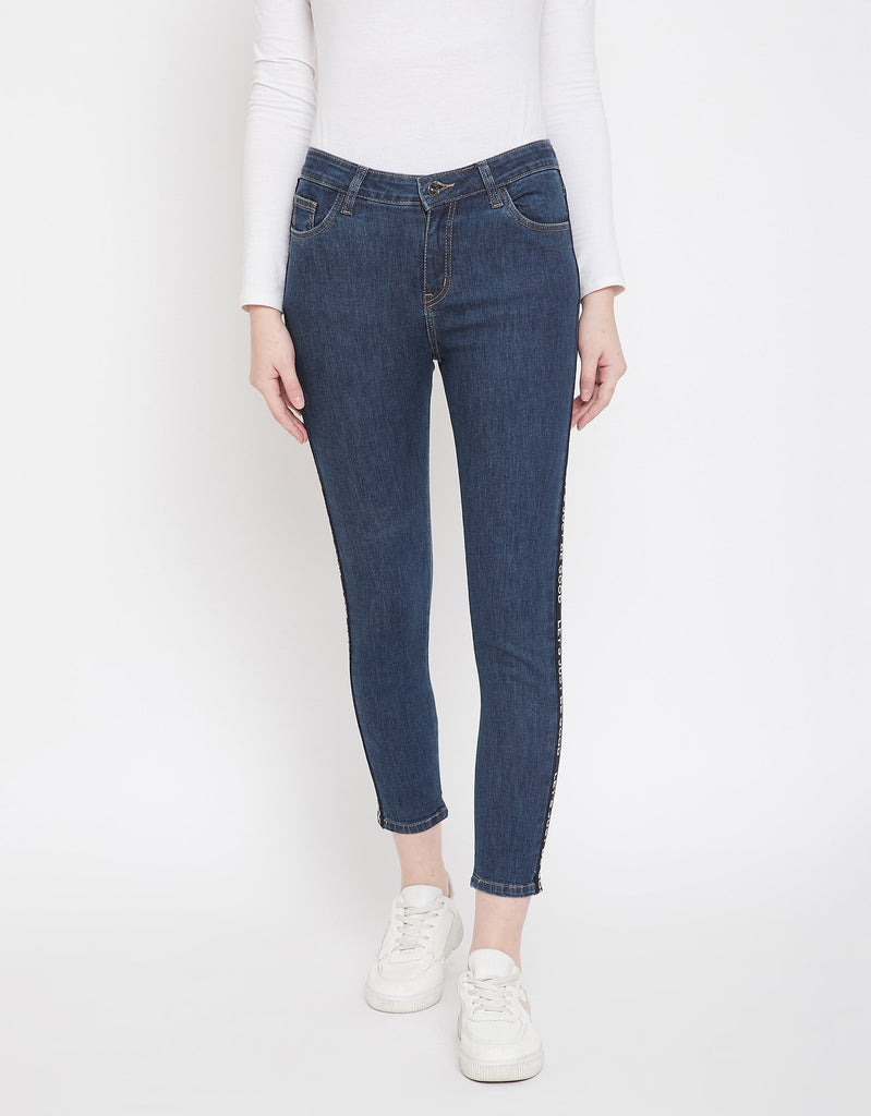 Navy/Blue Color Denim Jeans For Women