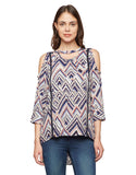 Madame Multicoloured Printed Casual Top