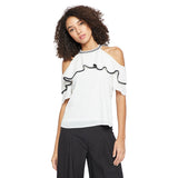 Madame White Casual Top
