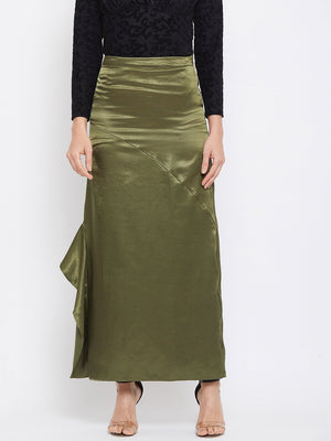 Madame Olive Color Skirt For Women