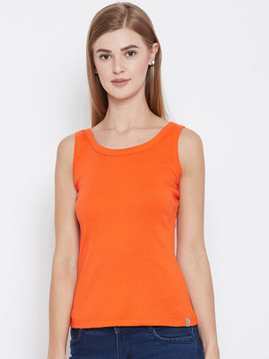 Madame B. Orange Color Spaghetti For Women