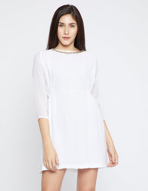 Madame Womens Off White Dress