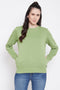 Madame Pear Green Color Sweatshirt For Women