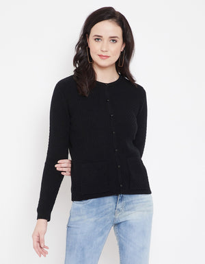 Madame Black Cardigans For Women