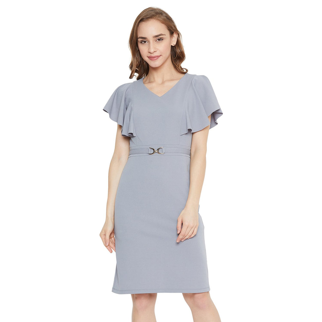 Madame Women Grey Dress