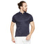 Navy Slim Fit Mandarin T-Shirt