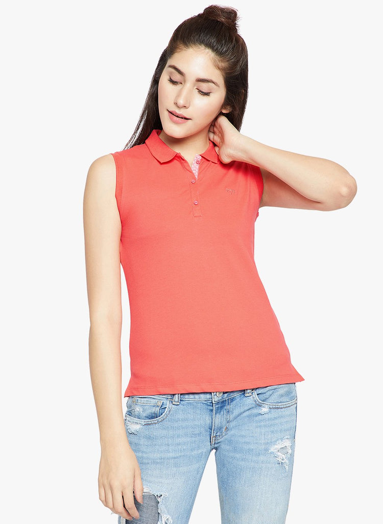 Rust Casual Polo T Shirt