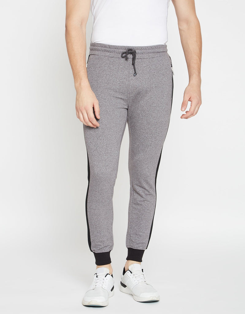 Grey Textured Track Bottoms
