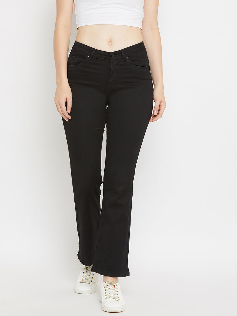Madame Black Color Denim For Women