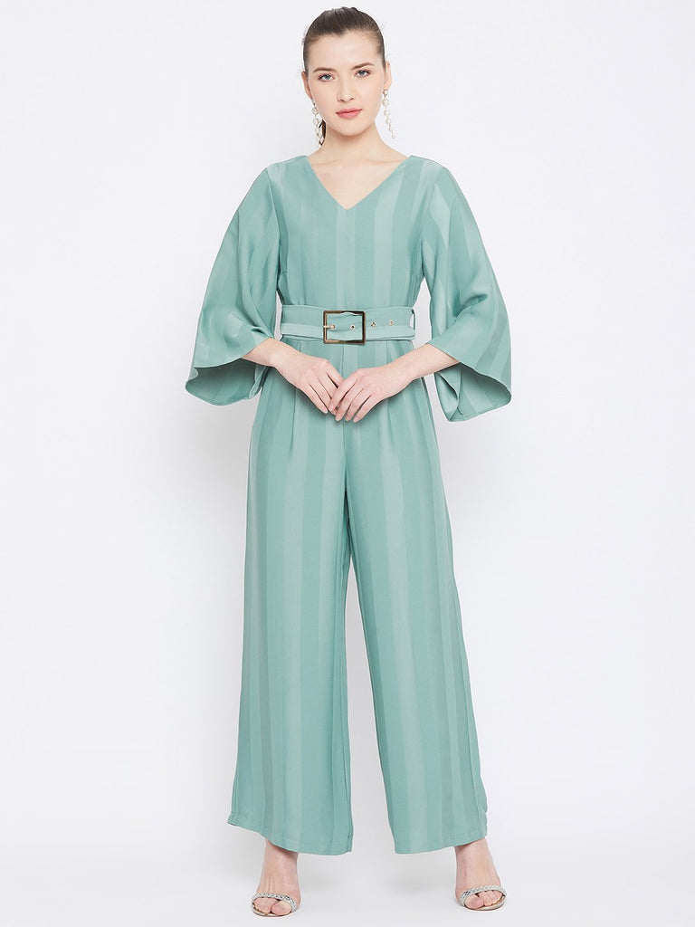 Madame Mint Color Jumpsuit For Women